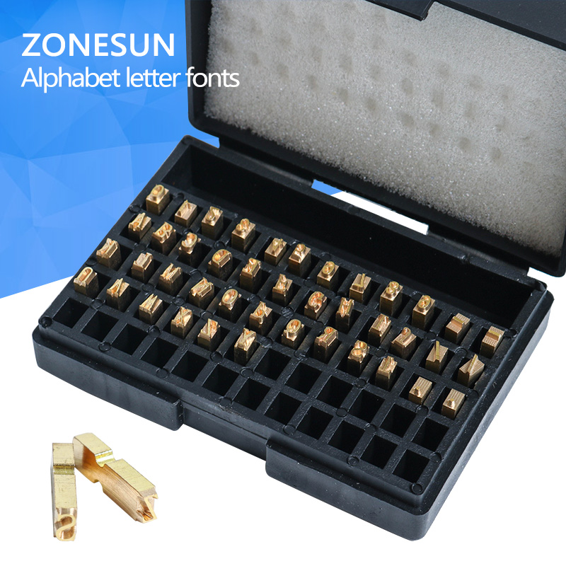 ZONESUN A-Z 0-9 character letter number hot letter for code ribbon date printing machine bigbang10 the collection a to z release date 2016 10 26