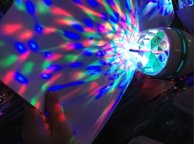 где купить E27 3w stage lights colorful rotating RGB LED lamp decorative KTV dance halls bulb party holiday LED bulb по лучшей цене