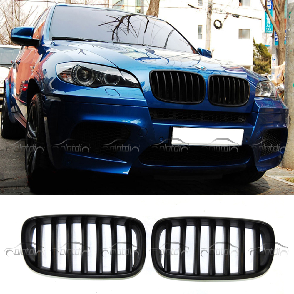 E70 E71 Grills Matt Black Gloss Black M Color Front Kidney Grille Replacement For BMW E70 E71 X5 X5M X6 X6M 2007 2013 kidney shape matte black abs plastic e70 e71 original style x5 x6 front racing grill grille for bmw e70 x5 bmw x6