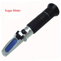 Portable Refractometer Sugar Beer Brix Meter Test Optical 0 32% Brix Refractometer Meter RHB 32ATC
