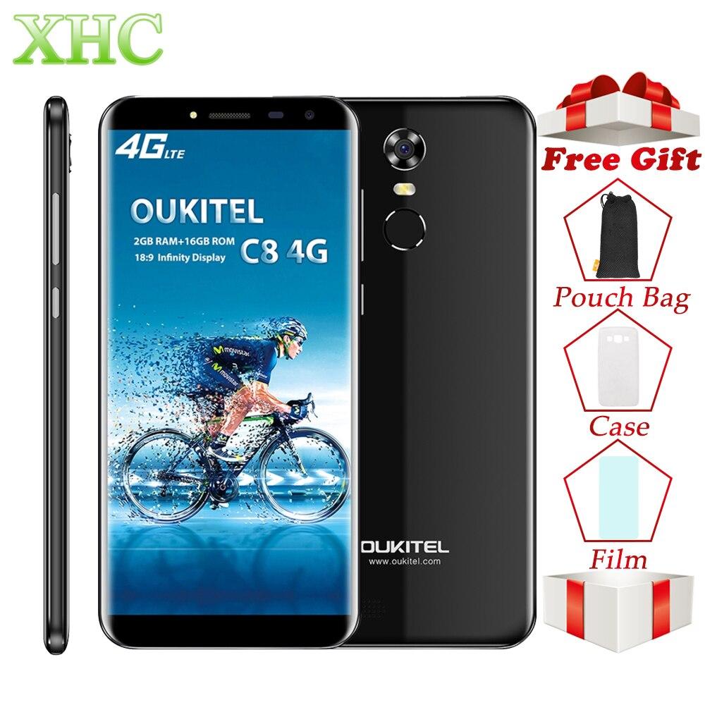 OUKITEL C8 5 5 inch Android 7 0 Smartphone RAM 2GB ROM 16GB MTK6737 Quad Core