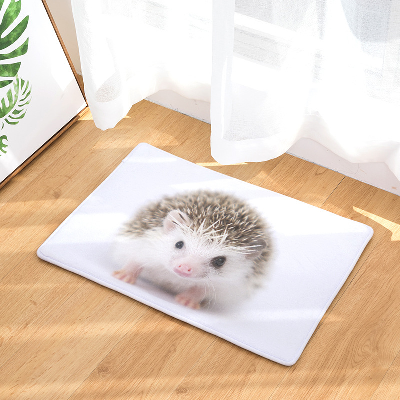CAMMITEVER Lovely Small Animal Hedgehog Carpet Alfombra Chair mat Seat Pad Area Rugs Washable Bedroom Kids Room Decoration in Rug from Home Garden