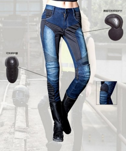UglyBROS jeans Cloth Inside The Cowboy Riding Pants Female Motorcycle Jeans Road Locomotive Two Sets of Protective Gear uglybros vegas jeans hidden side of the knee motorcycle riding motorcycles jeans trousers blue