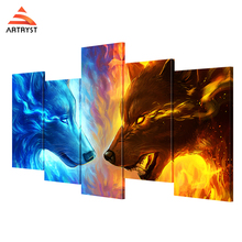 Artryst HD print abstract style 5 canvas wolf painting pictures and posters for the living room wall art modular pictures цена в Москве и Питере