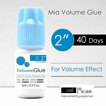 Mia Volume Application Eyelash Extension Glue Adhesive Medical Grade Perfect for 3D/6D/9D Volume Application. 2 s, 6 weeks - DISCOUNT ITEM  0% OFF All Category