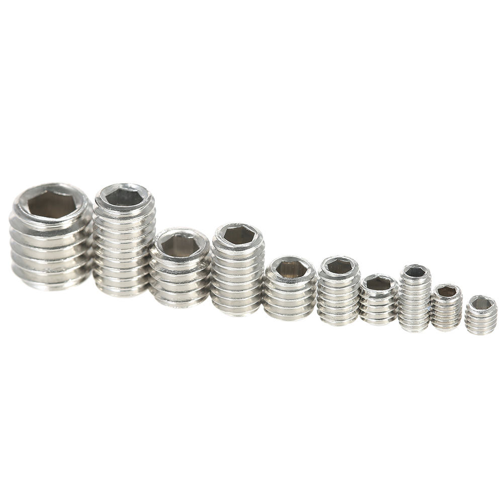 200pcs Stainless Steel Nut Set Hex Socket Drive Insert Nuts Threaded For Wood Furniture M3-M6/8
