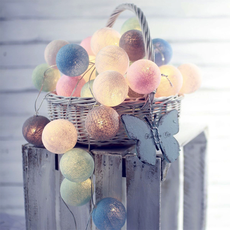 3 meters 20led cotton ball light string wedding Christmas lights string ins Nordic home decoration lights