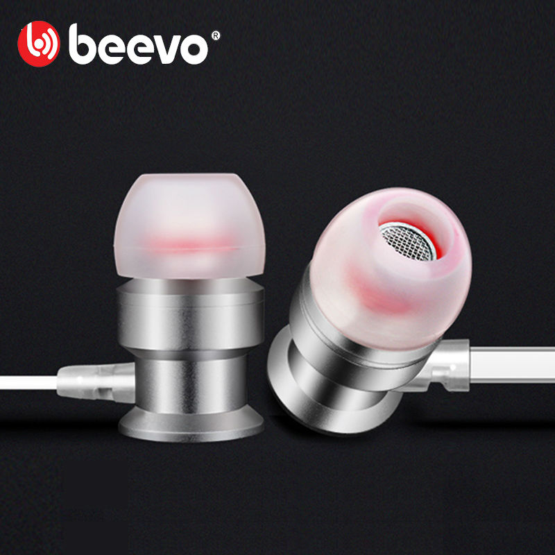 Original Beevo EM270 In-ear Earphone with MIC Volume Control Amazing Sound Metal Headset 3.5mm 1.25m Noise Cancelling Sport