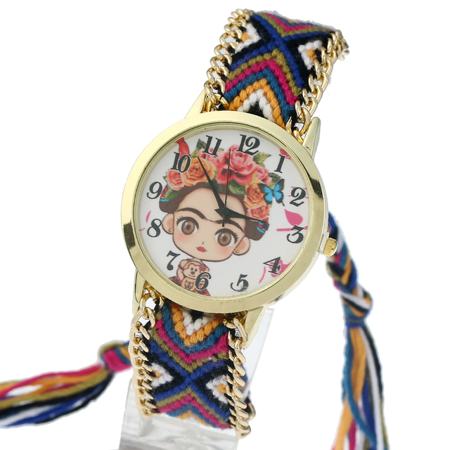 Printed Woven Band Women's Watches