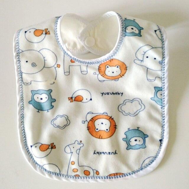 1Pc Baby Waterproof Bibs Boys Girls Babador Bandana Double Layer Cotton Saliva Towel Feeding Accessories Newborns Burp Cloths