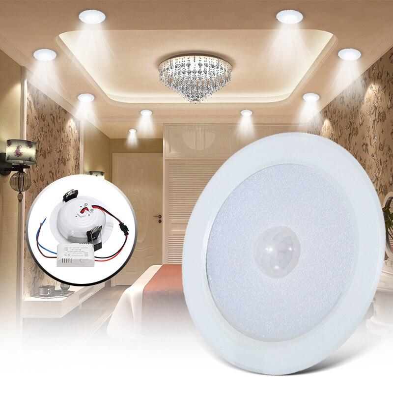 7 Watt E27 Bewegungsmelder Deckenleuchte 5730 SMD LED Nacht Lampe Warmweiß Flur Startseite Innenbeleuchtung Wall Pfad lampe