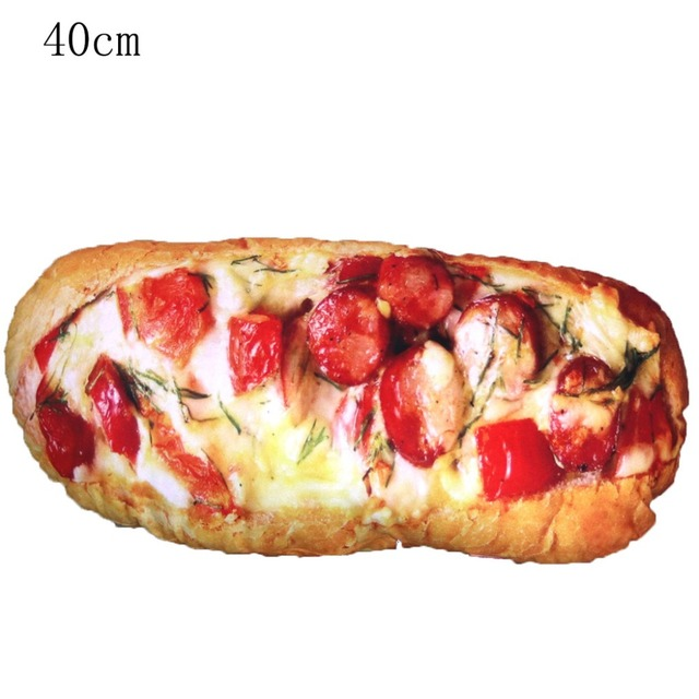 Bread Pizza Plush Pillow 1