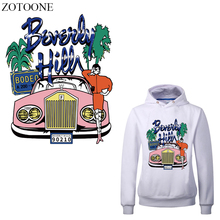 ZOTOONE Iron on Transfer Car Girl Patches for Clothing DIY T-shirt Applique Heat Vinyl Letter Tree Patch Stickers