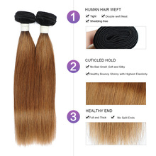 Raw Indian Hair 4 Gold Blonde Bundles With Closure 1B 30 Straight Human Hair Ombre Bundles With Closure Nonremy Weft