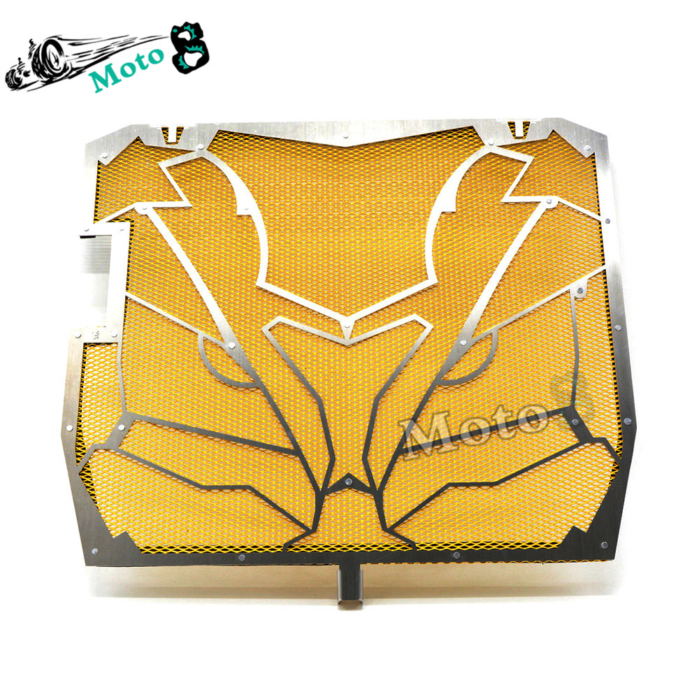 ФОТО high quality Motorcycle Radiator Grille Guard Screen Cover Protector GOLDEN protective cover For KAWASAKI ZX-10R 11 12 13 14