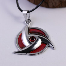 Anime Naruto Necklace Red Silver Color Unisex Fashion Jewelry
