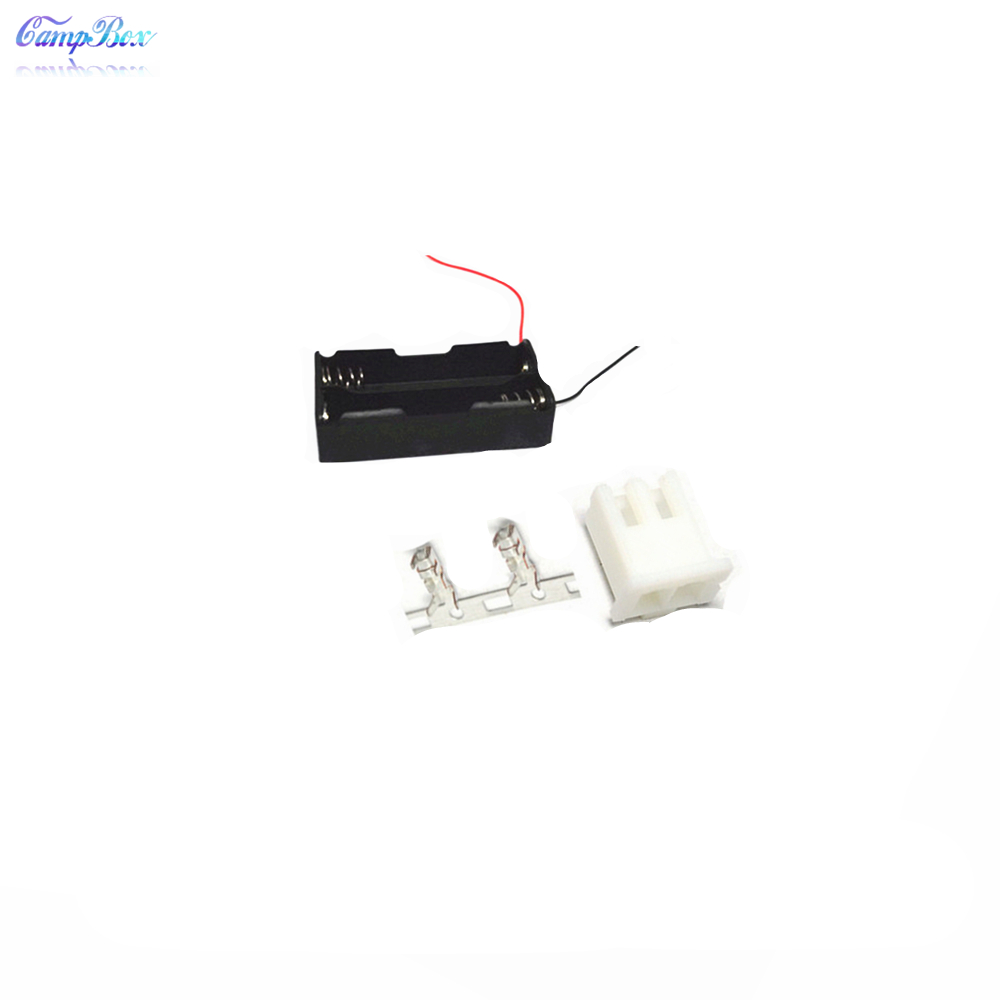 50Pcs 2x18650 Battery Case Holder Socket Wire Junction Box With 15cm Wires XH 2 54 Header