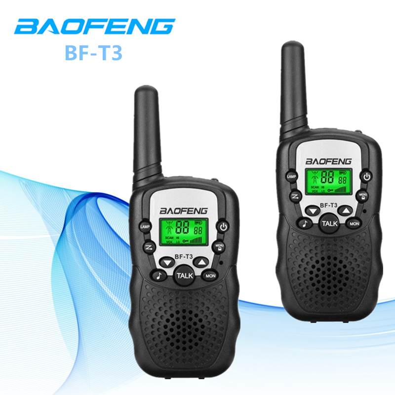 2PCS Baofeng Mini BF-T3 Handheld Walkie Talkie Radio For Kids Outdoor Camping 22CH UHF 462-467 MHz Up-To 3KM Portable Interphone