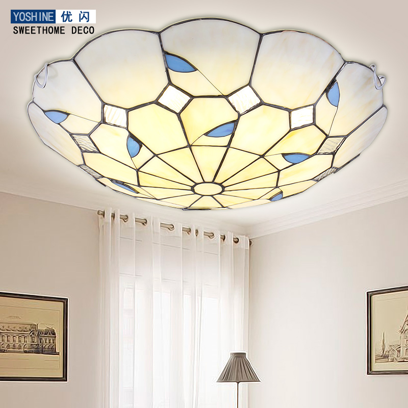 Garden LED bedroom lamp ceiling living room lamps round French simple European style restaurant balcony lamp french garden vertical floor lamp modern ceramic crystal lamp hotel room bedroom floor lamps dining lamp simple bedside lights