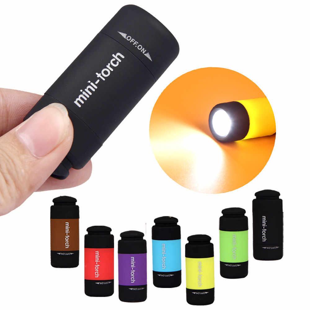 40 ^ עמיד למים נטענת Keychain לפיד מנורת אור רב צבע סופר מיני LED אור 0.3W 25Lum נייד פנס USB חיצוני