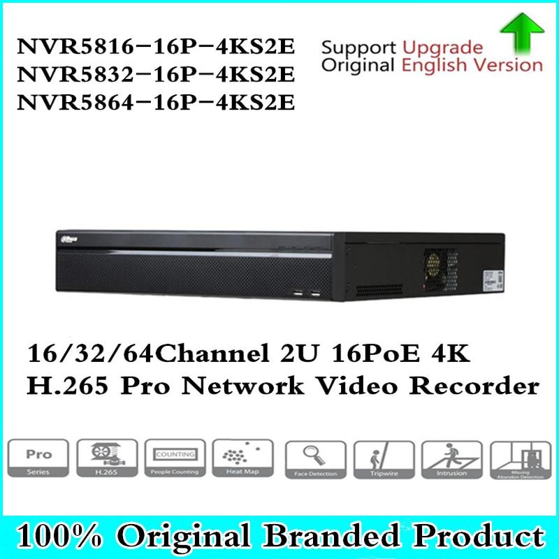 4K NVR NVR5816-16P-4KS2E 16CH 16 poe NVR5832-16p-4KS2E 32ch 16 PoE NVR5864-16P-4KS2E 1-8 PoE Ports Support 800m ePoE & EoC цена