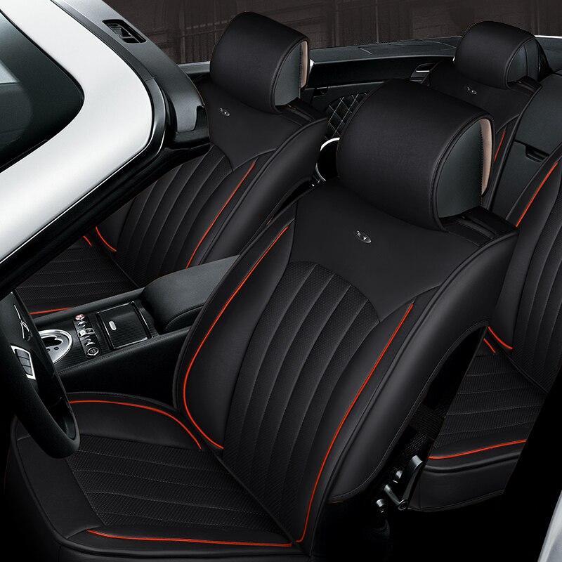 2018 3D Styling Car Seat Cover Universal Cushion For Infiniti EX25 FX35/45/50 G35/37 JX35 Q70L,High-fiber Leather,Car pad,auto s