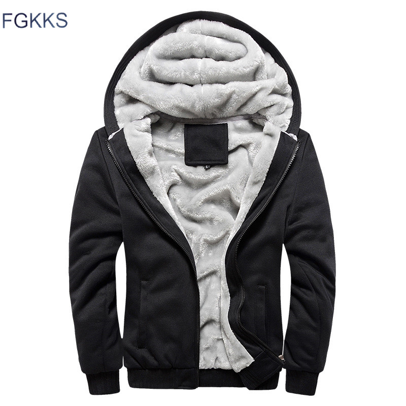 FGKKS Fashion Brand Sweatshirts Mens 2018 Winter Thicken Hoodie Men Hoodies Sweatshirt Men Zipper Coats Sudadera Hombre