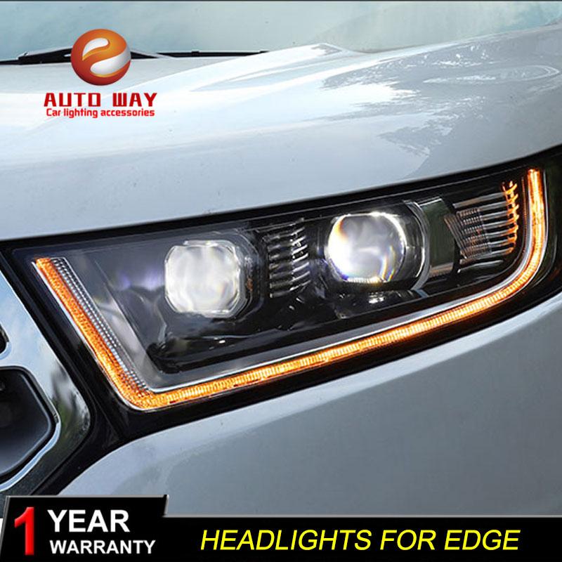 Styling mobil Kepala Lampu kasus untuk Ford Edge 2015-2018 Lampu LED - Lampu mobil - Foto 2