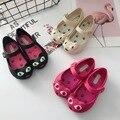 Melissa детские сандалии с кошками  3 цвета  пляжные сандалии для девочек  12-19 см  лето 2019