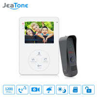 "Jeatone  4"" 1200TVL HD  Audio Door Phone Wired Video Home Intercom System Security Can Link CCD Camera Release Unlock"