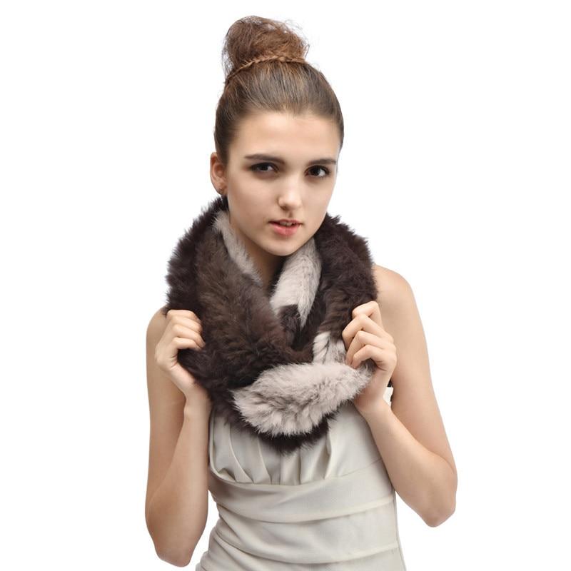 Scarf Luxury Brand 2019 New Winter Women Explosion model Rex Rabbit Real Fur Grass Warm Fur Scarf Fashion Scarves Cachecol LH282