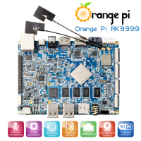 Orange Pi RK3399 2GB DDR3 16GB EMMC Dual Core Cortex-A72  Development Board Support Android6.0