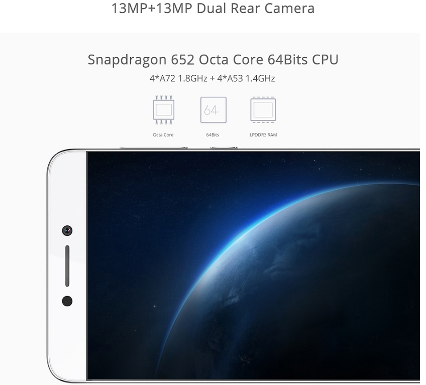 Original LeEco Cool 1 Mobile Phone Dual Leeco Coolpad cool 1 Snapdragon 652 Smartphone 3GB RAM 32GB ROM 5.5 Inch FHD Android 6.0 033