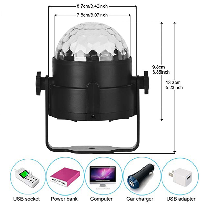 TRANSCTEGO Disco Light USB Party Laser For Car DJ Magic Ball - Kommersiell belysning - Bilde 5