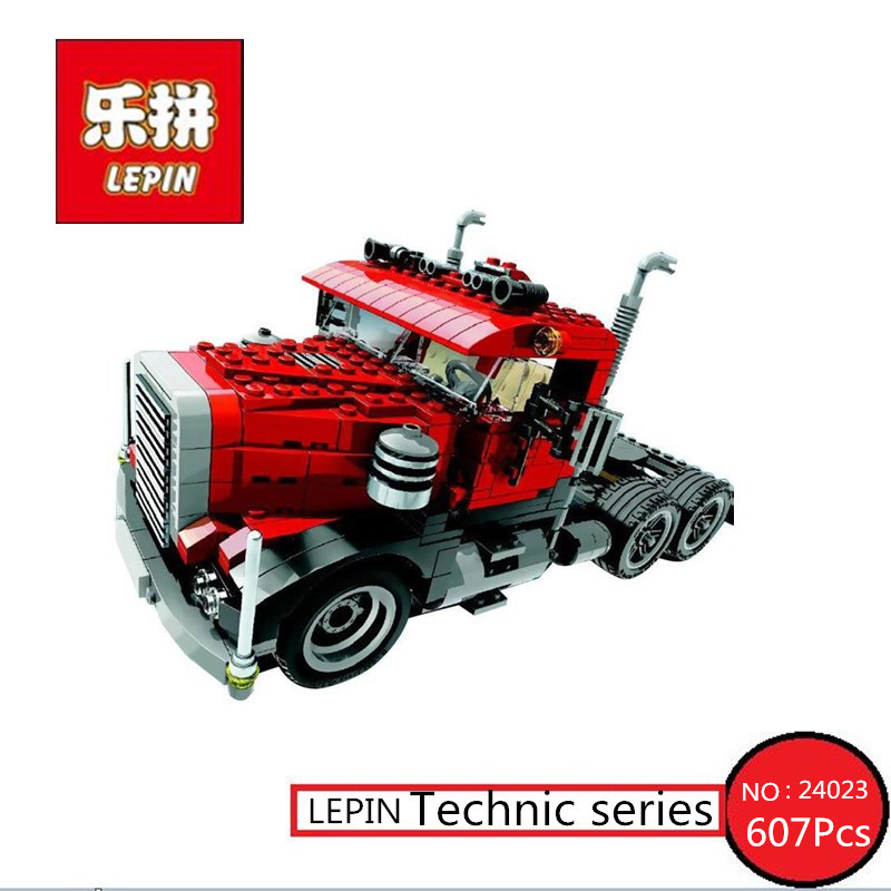 New LEPIN 24023 Classic distorted creative truck tractor toy 607Pcs Building Blocks Bricks Education Model Toys 4955