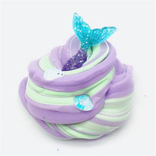 Beautiful Mermaid Mud Mixing Cloud Slime Putty Scented Stress Kids Clay Toy 2018 HOT Sept21(China)