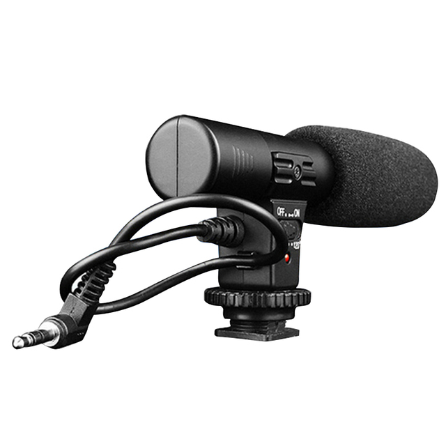 TOFOCO MIC-01 PRO Shotgun DV Stereo Recording Interviews MIC Microphone for Canon Nikon Any DSLR Camera DV Video Camcorder