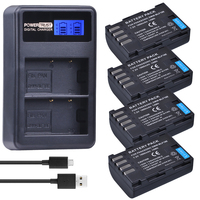 4Pcs 1860mAh DMW BLF19E DMW BLF19 Camera Battery DMW BLF19 BLF19 BLF19E LCD Dual USB Charger