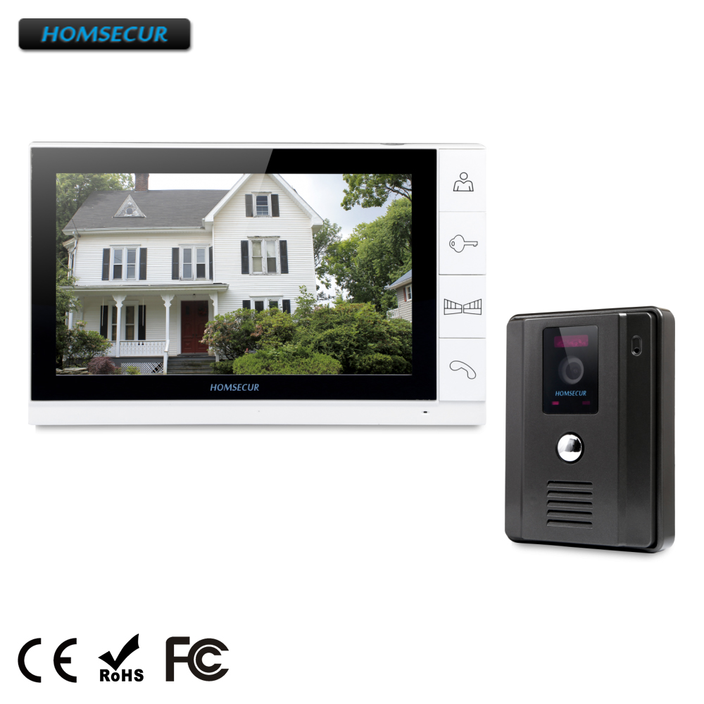 HOMSECUR WIRED Video Door Phone Doorbell Black Camera Night Vision 9LCD Color Monitor1v1HOMSECUR WIRED Video Door Phone Doorbell Black Camera Night Vision 9LCD Color Monitor1v1