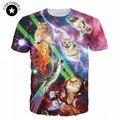 2017 3d animal t shirt printed space galaxy cat t shirt Crewneck cat shirts casual short sleeve women/men top tee shirts