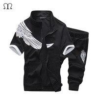 Tracksuit Men Summer Track Suit Men Casual Clothes Brand Clothing Sweatshirt Men Wing Printed Fashion Short