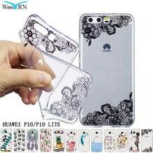 Фотография Soft TPU Huawei P10 Lite P10 Case Cover Luxury Cute Cartoon Gel Silicone Coque Transparent Slim Phone Case Huawei P10 Lite Funda