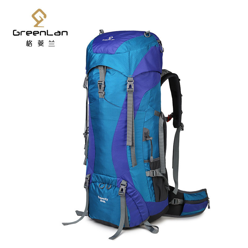 65L Adjustable Waterproof Climbing Hiking Backpack exteranl frame Bag Camping Mountaineering Backpack Sport Outdoor Bike Bag lemochic high 65l outdoor mountaineering bag waterproof sport travel backpack camping hiking shiralee luggage canvas rucksack