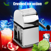 1PC Manual Ice Crusher Shaver machine Snow Drink Slushy Maker Blender Cocktail Maker stainless steel shaved ice shaver machine