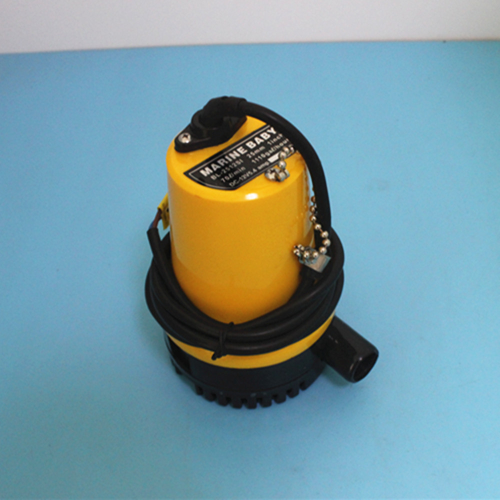Yellow 12V Submersible Marine Boat Bilge Water Pump