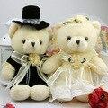40 см 1 пара классическая белое свадебное платье плюшевого мишку чучела животных плюшевые игрушки подарок для влюбленных и девочка