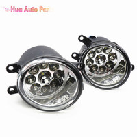 2X Car Styling 81210 06052 LED Fog Lamps Refit Left Right For Toyota Camry Corolla Yaris