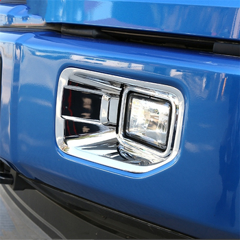 WELKINRY car auto cover styling For Ford F150 pickup 2015 2016 2017 ABS chrome front head fog lamp light trim 2pcs