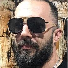 FEISHINI Celebrity Sunglasses Men Brand Design Retro Metal Big Frame Gradient Colorful Lens Fashion Cool Sun glasses Shield 2019