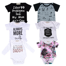 Newborn Baby Clothes Toddler Infants Baby Bodysuit Funny auntie uncle Letter Baby Bodysuit Tiny cottons Baby girl boys Onesie цена
